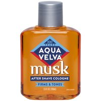 Aqua Velva After Shave Cologne, Musk Scent that Firms and Tones Skin, 3.5 Fluid Ounce Bottle