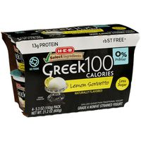H‑E‑B Select Ingredients Lemon Sorbetto Greek 100 Calories Non-Fat Yogurt