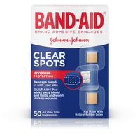 Band Aid Brand Adhesive Bandages, Clear Spots, All One Size