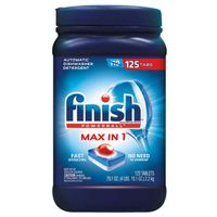 Finish Powerball Max-in-1 Dishwasher Detergent, 125 ct