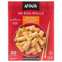 Minh Mini Chicken Egg Rolls, 50 x 46 oz
