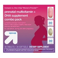 Women's Daily Prenatal Combo Pack Dietary Supplement Tablets & Softgels - 60ct - Up&Up™