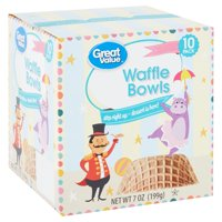 Great Value Waffle Bowls, 7 Oz., 10 Count