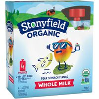 Stonyfield® Organic Pear Spinach Mango Whole Milk Yogurt