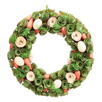 """Way to Celebrate Wood Chip Easter Wreath with Carrots, 16.5"""""""