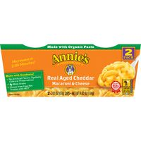 Annie's Homegrown Macaroni & Cheese, Real Aged Cheddar, 2 Pack