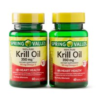 Spring Valley Krill Oil Softgels, 350 mg, Twin Pack, 60 Count