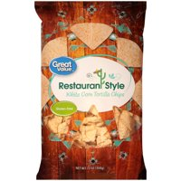 Great Value Lightly Salted Restaurant Style White Corn Tortilla Chips, 13 oz