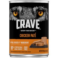 CRAVE Grain Free Adult Canned Wet Dog Food Chicken Pate, 12.5 oz. Can