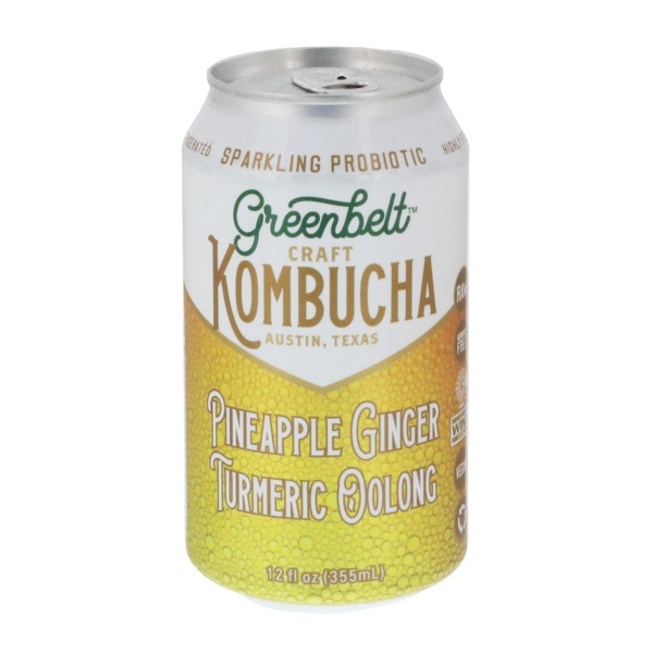 Greenbelt Pineapple Ginger Craft Kombucha