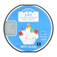 Holiday Time LED Mini Light set, Multicolored, 240 Count