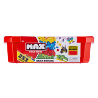 MAX Build More Building Bricks Value Set (253 Bricks) - Major Brick Brands Compatible