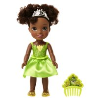 "Disney Princess Petite Tiana 6"" Doll with Glittered Hard Bodice and includes Comb"