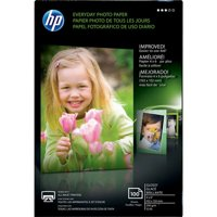 HP Everyday Photo Paper Ideal For All Inkjet Printers Glossy Surface Finish 4x6 in.