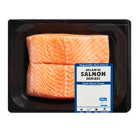 Fresh Skinless Atlantic Salmon Portions, 0.8 – 1.0 lb