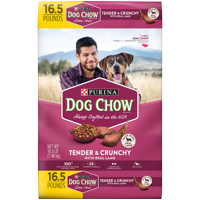 Purina Dog Chow Dry Dog Food, Tender & Crunchy With Real Lamb - 16.5 lb. Bag