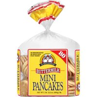 De Wafelbakkers Frozen Buttermilk Mini Pancakes, 80 ct, 1lb 12.2 oz.