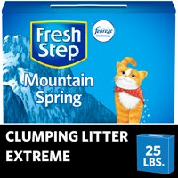 Fresh Step Extreme Scented Litter with the Power of Febreze, Clumping Cat Litter - Mountain Spring, 25 Pounds