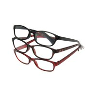 Equate Reading Glasses Traditional Rectangular Frame, 3 pack Black, Wine, Tortoise (7 Powers Available)