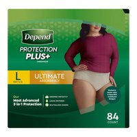 Depend Women's Large Protection Plus+ Ultimate Absorbency Underwear