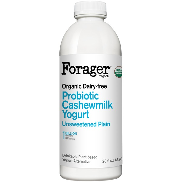 Forager Project Plain Dairy-Free Probiotic Drinkable Cashewgurt