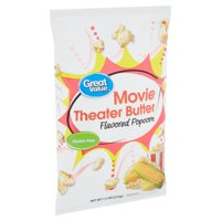 Great Value Movie Theater Butter Flavored Popcorn, 7.5 Oz.