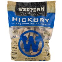 Western Premium BBQ Products Hickory BBQ Smoking Cooking Chunks, 570 Cu In