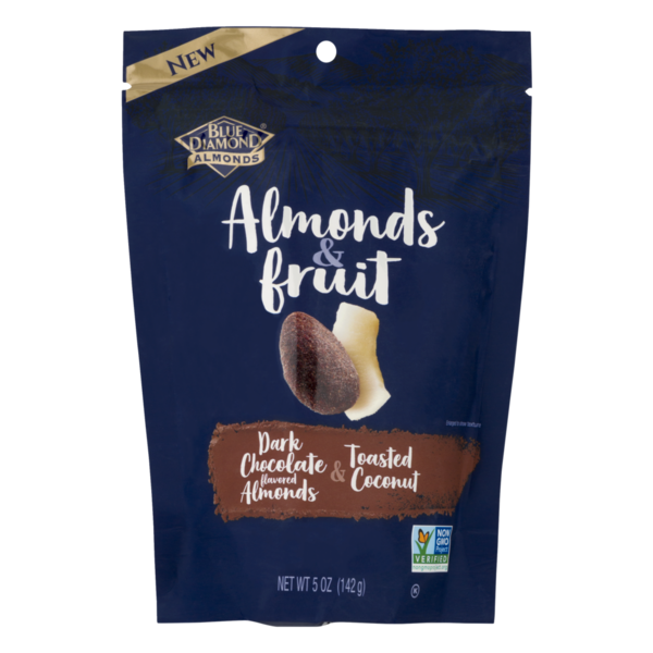 Blue Diamond Almonds Dark Chocolate Flavored Almonds & Toasted Coconut