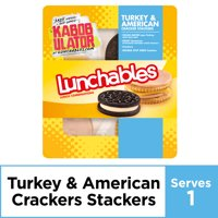 Lunchables Lunch Combinations Turkey & American Cracker Stackers, 3.4 oz Package
