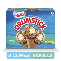 DRUMSTICK Classic Vanilla Ice Cream Cones 8 ct Box
