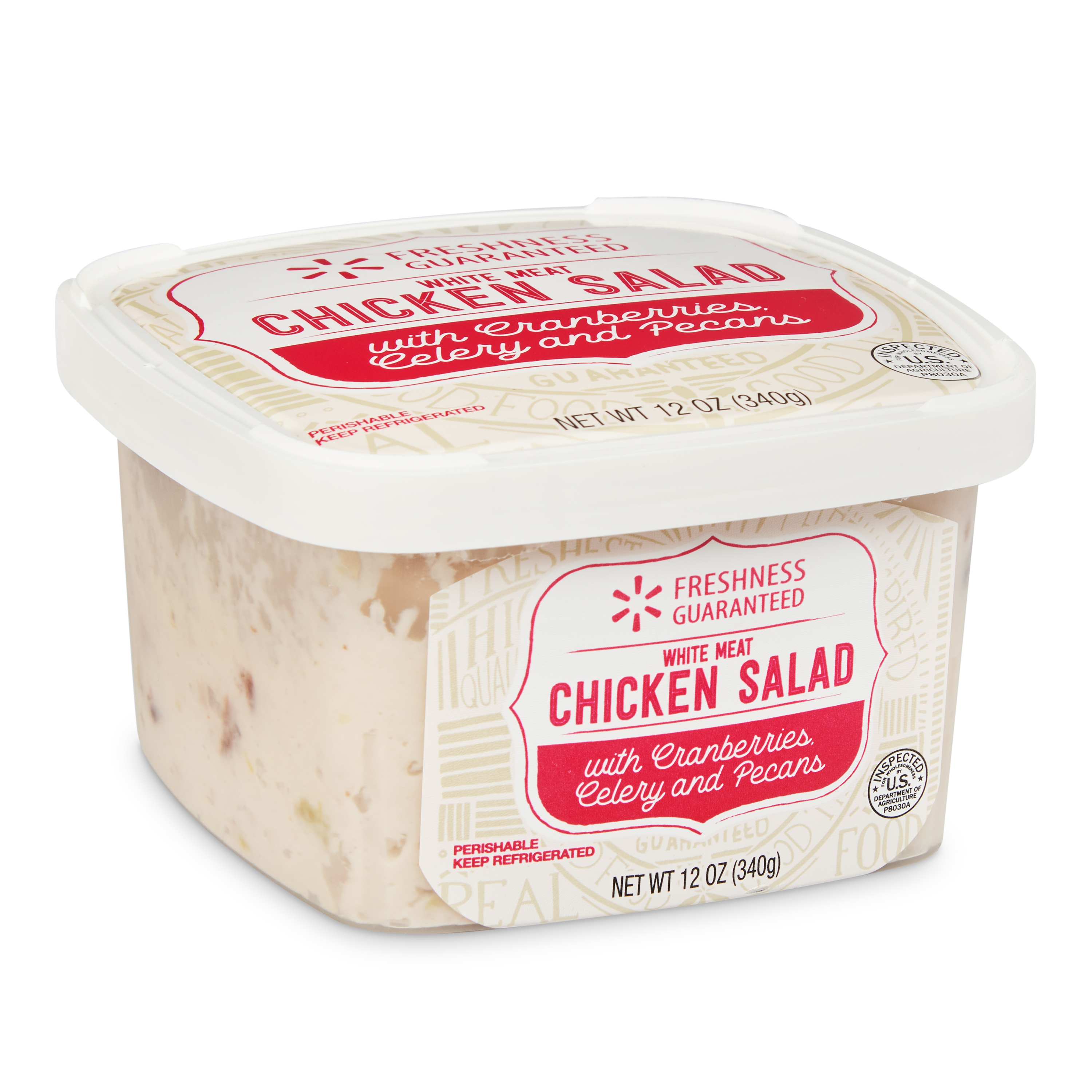 Freshness Guaranteed White Meat Chicken Salad with Cranberries, Celery, and Pecans, 12 oz