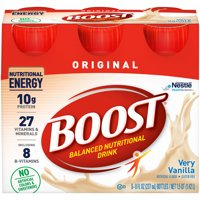 Boost Original Complete Nutritional Drink, Very Vanilla, 8 fl oz Bottle, 6 Count