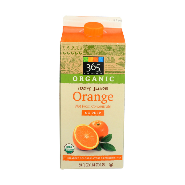 365 everyday value® No Pulp Orange Juice, 59 FL OZ