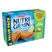 Kellogg's Nutri-Grain, Soft Baked Breakfast Bars, Apple Cinnamon, Value Pack, 16 Ct, 20.8 Oz