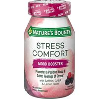 Nature's Bounty Stress Comfort, Mood Booster, Gummies, Wild Berry Flavored