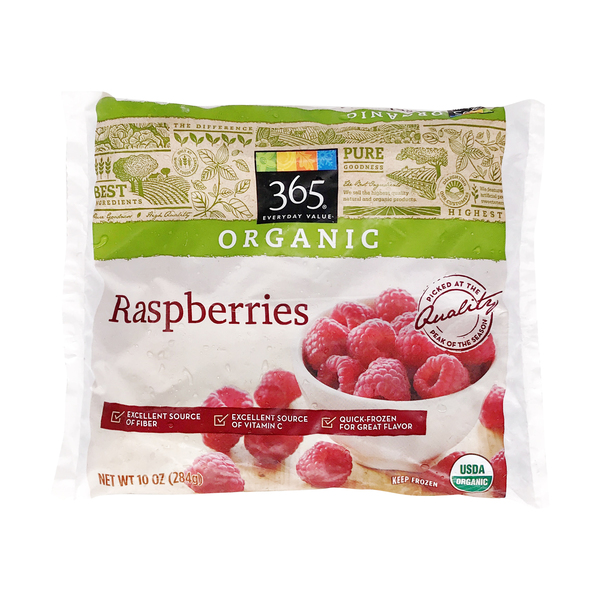 365 everyday value® Organic Raspberries, 10 oz