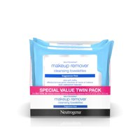 2 Pack, Neutrogena Fragrance Free Makeup Remover Facial Wipes, 25 ct