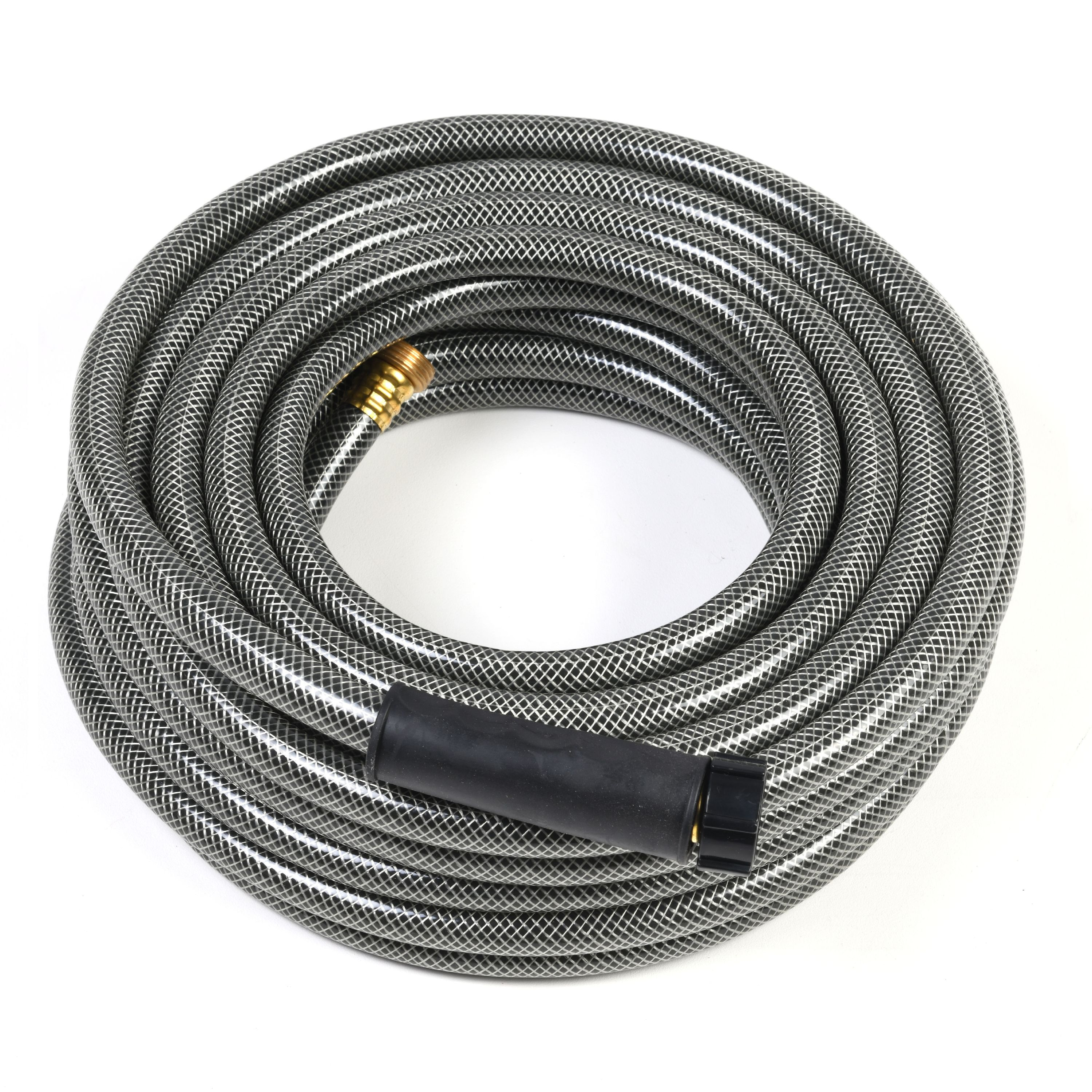 Auto Drive 50' Water Hose, Durable PVC Construction, Universal Coupler, Silver