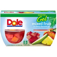Dole Fruit Bowls Mixed Fruit in Sugar Free Cherry Flavored Gel, 4.3 Oz Bowls, 4 Cups of Fruit