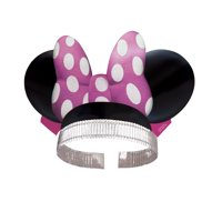 Minnie Mouse Ear Paper Party Headbands, 8ct