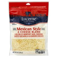 Lucerne Cheese, Finely Shredded, Mexican Style 4 Cheese Blend