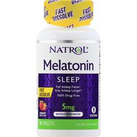 Natrol Melatonin, Sleep, Extra Strength, 5 mg, Tablets, Strawberry
