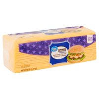 Great Value Deluxe American Pasteurized Process Cheese, 120 count, 5 lb