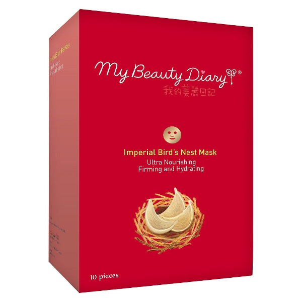 My Beauty Diary Ultra Nourishing Firming & Hydrating Imperial Bird's Nest Face Mask - 10ct