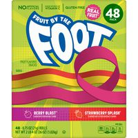 General Mills Fruit By The Foot Variety Pack, 48 x 0.75 oz