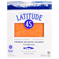Latitude 45 Smoked Atlantic Salmon, 3oz