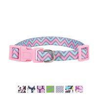 Vibrant Life Pink/Mint Chevron Fashion Collar for Dogs, XS