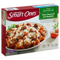 Smart Ones Three Cheese Frozen Ziti Marinara with Meatballs - 9oz