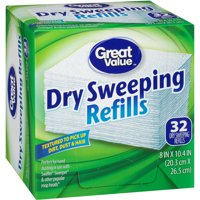 Great Value Dry Sweeping Cloth Refills, 32 Count
