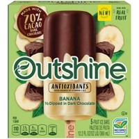 Outshine Half-Dipped Banana Frozen Fruit Bar - 5ct